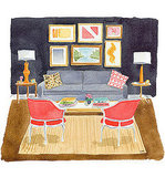 New York-based watercolor artist Caitlin McGauley is now taking commissions for custom illustrations, prints, and original artwork. It's about time you order a charming watercolor of your living room.