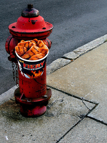 KFC Promotes New Fiery Chicken Wings on Fire Hydrants
