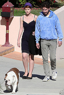 Photos of Shia LaBeouf and Carey Mulligan Walking a Bulldog in LA