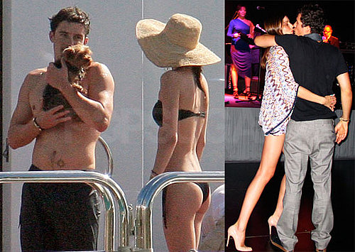 Photos of Orlando Bloom, Miranda Kerr, and Jason Statham Vacationing on New Year's Day in St. Barts