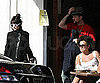 Slide Photo of Nicole Richie and Joel Madden Getting Lunch in LA