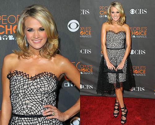 Carrie Underwood in Christian Cota at 2010 People's Choice Awards