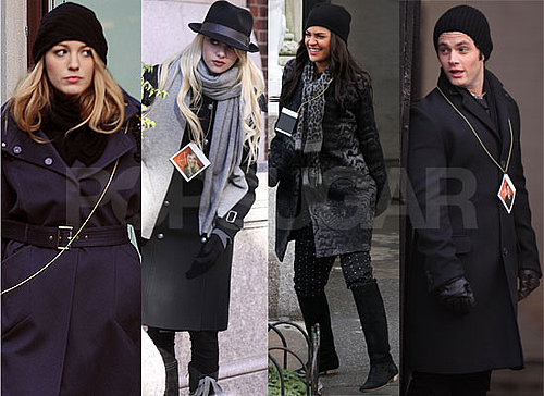 Photos of the Gossip Girl Cast Filming Season 3 in New York City and Playing Games