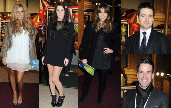 Photos of Stacey Solomon, Lucie Jones, Rachel Stevens, Tom Chambers, Gethin Jones at Cirque du Soleil's Varekai Gala