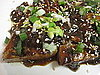 Tofu Triangles in Creamy Nut Buttter Sauce With Scallions