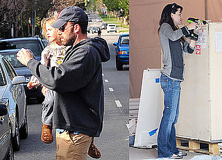 Photos of Jennifer Garner and Ben, Seraphina, and Violet Affleck Eating Breakfast in LA