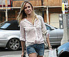 Slide Photo of Kristin Cavallari in Jean Shorts Shopping in LA
