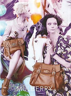 Photo of 2010 Mulberry Ad Campaing Featuring Sasha Pivovarova and Viktoriya Sasonkina