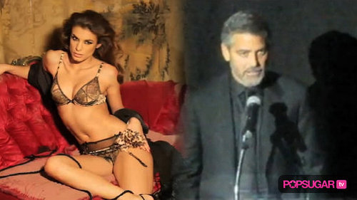 George Clooney's Girlfriend in Lingerie Shoot