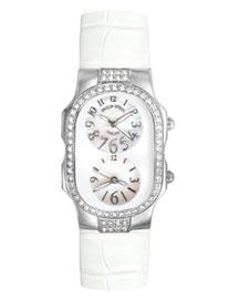 PHILIP STEIN TESLAR - White Gator Double Diamond Watch, Small