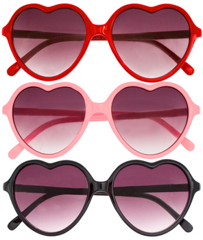 Hard Candy Heart Sunnies $11 @ Fred Flare
