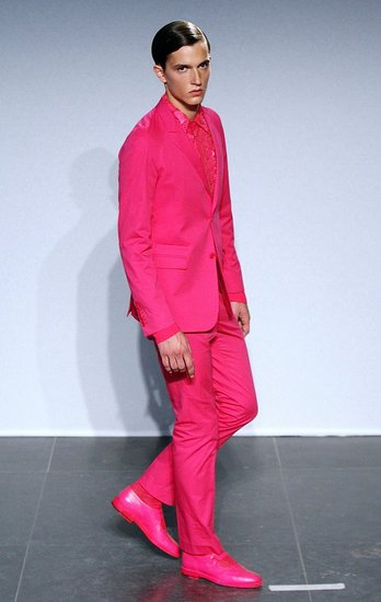 Pink Suiting At Givenchy