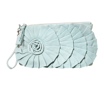 Leather Frill Clutch $80 @ Topshop