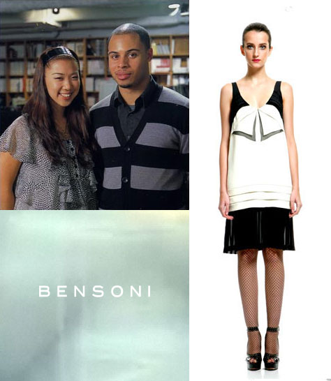 Sonia Yoon and Benjamin Channing Clyburn; A Fall 2008 look.<BR>