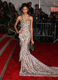 Chanel Iman in Zac Posen