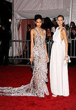 Chanel Iman in Zac Posen with Flavia Oliviera