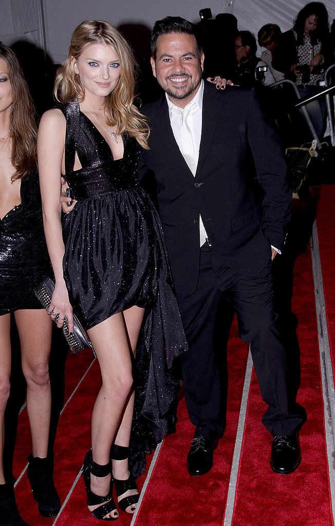 Narciso Rodriguez with Lily Donaldson in his design
