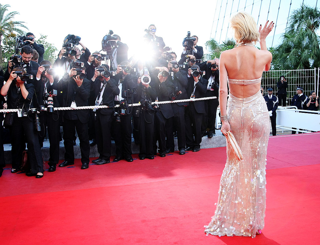 May 18: Eva Herzigova, in Versace, at Looking for Eric premiere