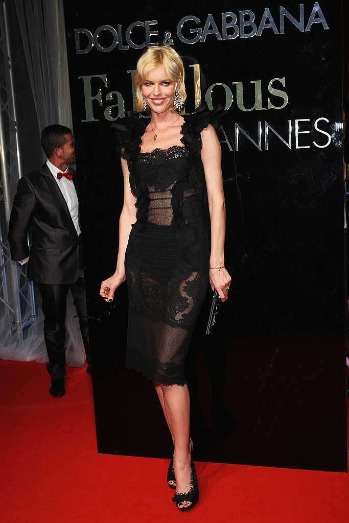 "May 22: Eva Herzigova at Dolce & Gabbana's ""Fabulous in Cannes"" bash at Le Baoli"
