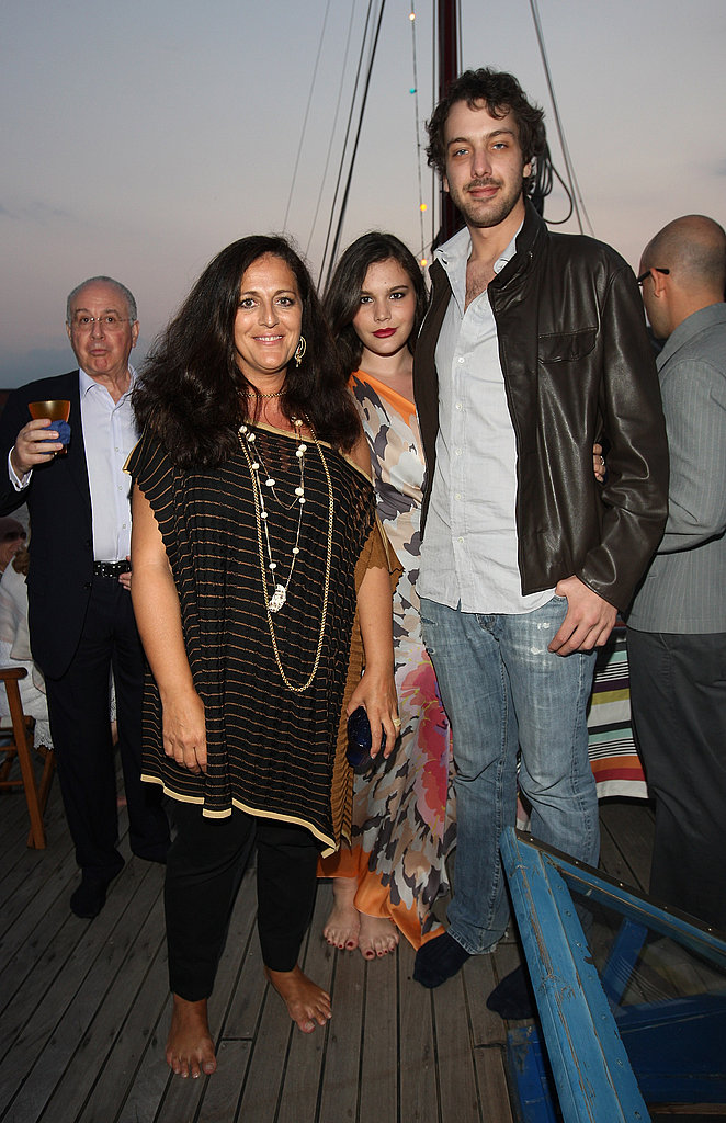June 4: Angela, Teresa, and Francesco Missoni at Missoni Dinner Party