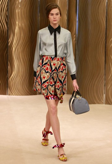 Miuccia Prada Digs Up Clashing Vintage Prints for Cruise 2010