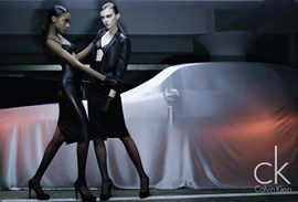 Jourdan Dunn, Edita Vilkeviciute, and Jac Are All Fall 2009 Calvin Klein Girls