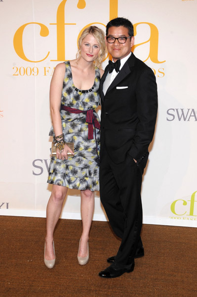 Mamie Gummer in Peter Som with the designer