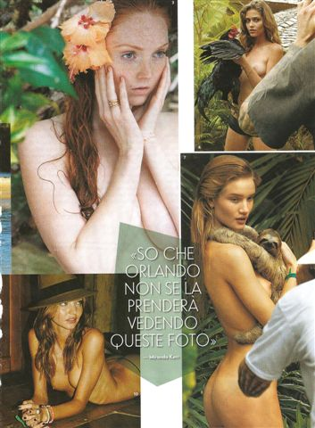 Lily Cole; Ana Beatriz Barros; Rosie Huntington-Whiteley; Miranda Kerr