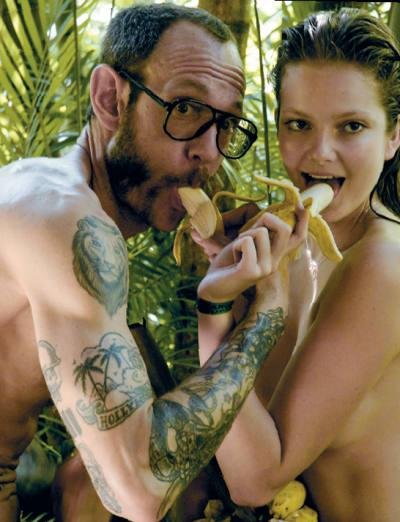 Terry Richardson and Eniko Mihalik
