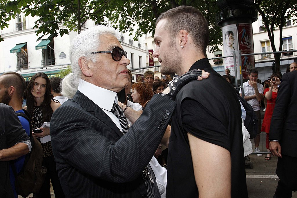 June 28: With Kris van Assche at Dior Homme Spring 2010