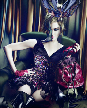 More Super 'Shopped Madonna for the Fall 2009 Louis Vuitton Campaign