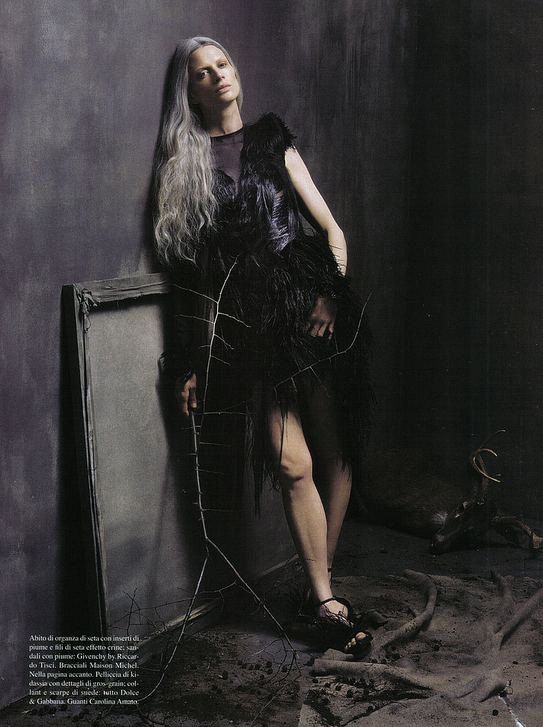 Kristen McMenamy Storms Back for July 2009 Vogue Italia