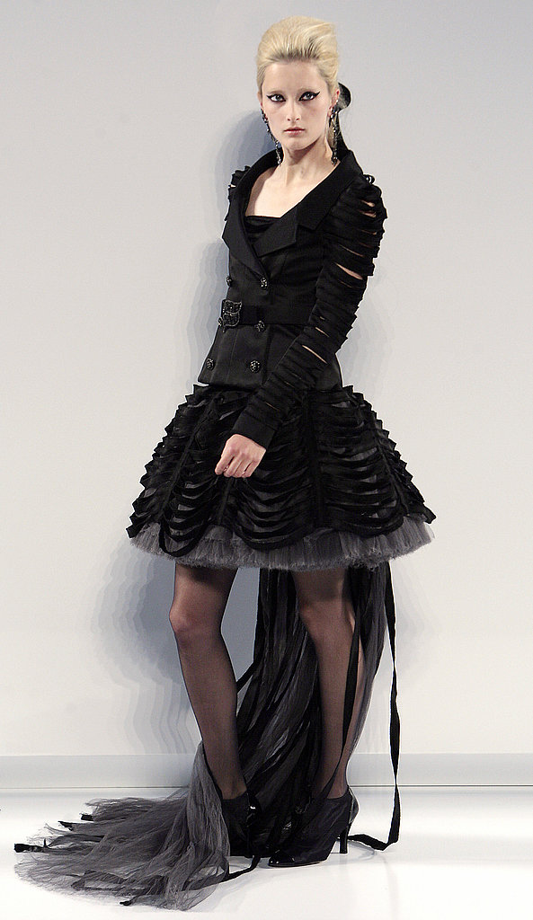 Karl Lagerfeld's Fall 2009 Chanel Couture: All High/Low Skirts and Perfume Bottles