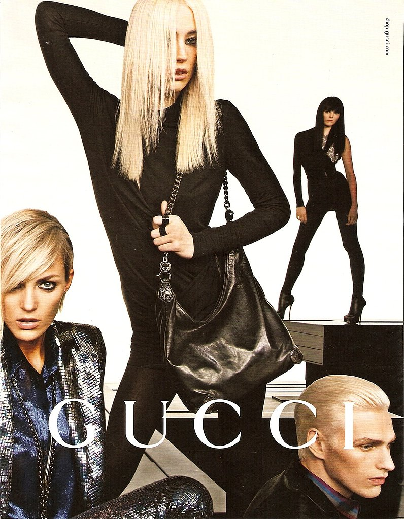 Gucci Girls Get the Emmanuelle Alt Treatment for Fall 2009 Campaign