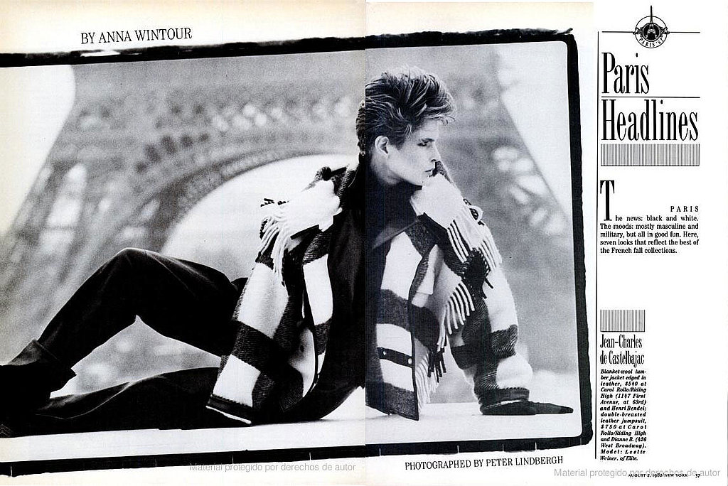 August 1982: Paris Headlines by Peter Lindbergh