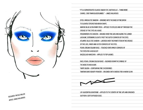 M.A.C. Makeup Looks From The Fall 2009 Shows: Part One