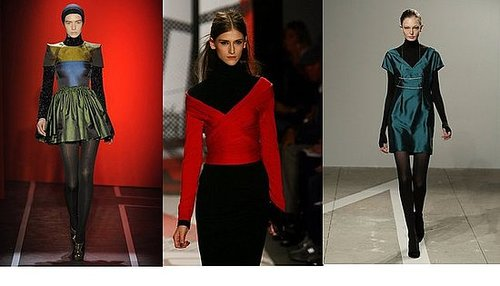 Fall 2009 New York Trend Report: Black Turtlenecks Under Color