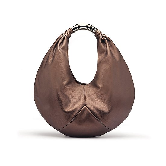 $1,650 Debra Bi-colored handbag in broze color calf leather.