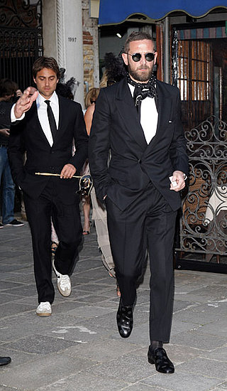 Stuart Townsend and Stefano Pilati, Photo by D. Venturelli/Wireimage