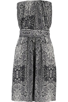 Cosmic snakeskin-print dress $340