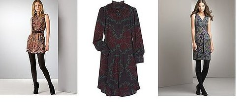 Shopping: Dark Paisley Dresses