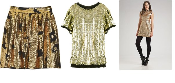 Shopping: Gold Glittery Glamour