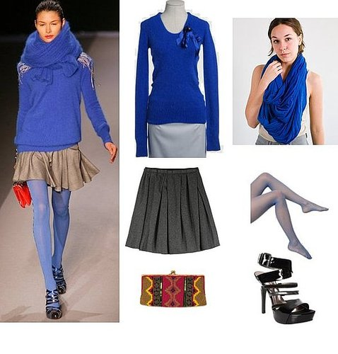 A Look We Love: Cobalt and Gray