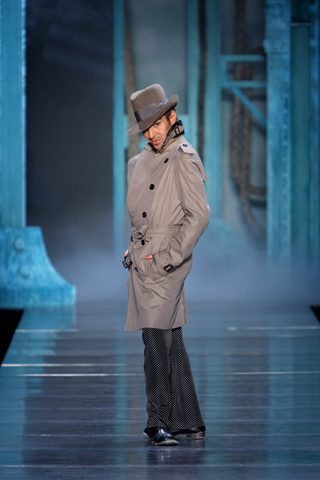 John Galliano taking a bow after his Christian Dior spring 2010 runway show