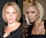 Louise Adams and Victoria Beckham