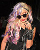 Lady Gaga&#039;s New Purple and Pink Hair