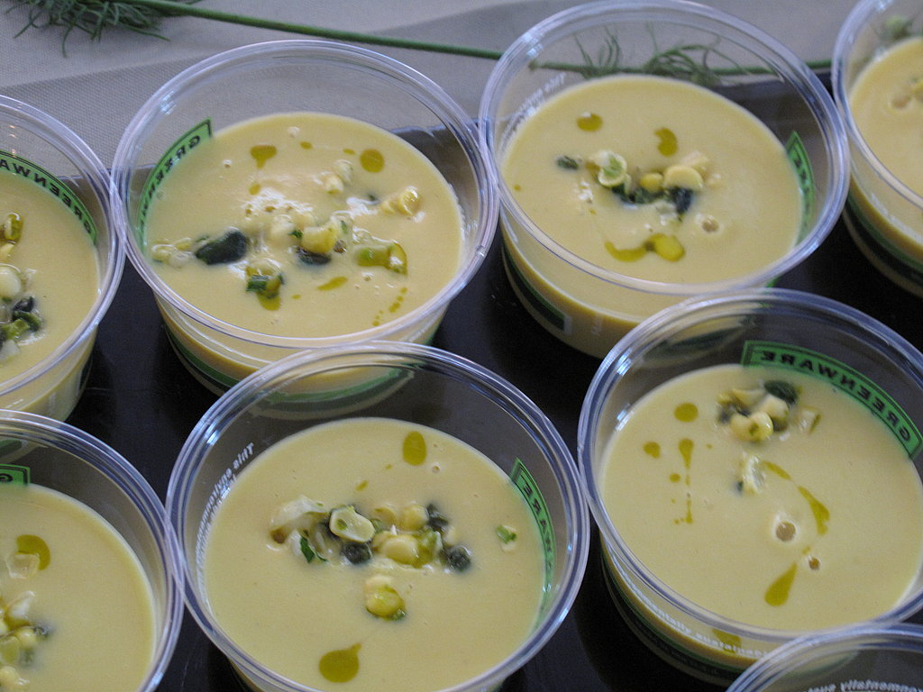 Corn Soup With Pistachio and Tarragon