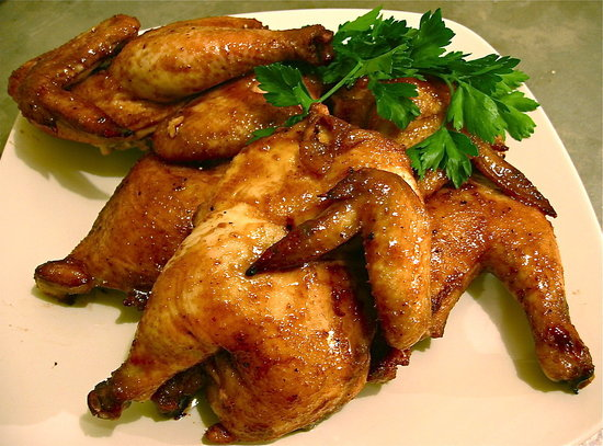 Honey-Glazed Cornish Hens