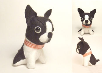 Stuffed Boston Terrier Toy Melts my Heart