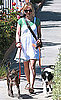 Newly Engaged Anna Paquin Seen Walking Her Dogs in Santa Monica